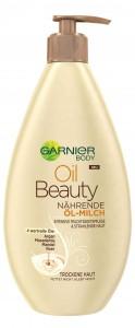 Garnier Oil Beauty Öl-Milch: reichhaltige Pflege mit den Ölen Argan, Macadamia, Mandel und Rose