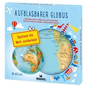Aufblasbarer Globus bei www.moses-verlag.de