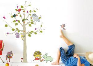Sticker an der Wand, wer hat das schönste Kinderzimmer im Land?