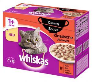 Whiskas Creamy Soups Klassische Auswahl