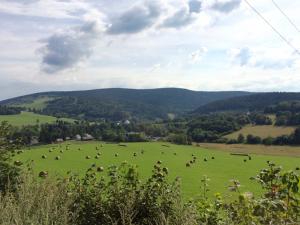 Der erste Blick auf Hermannstadt im Altvatergebirge
