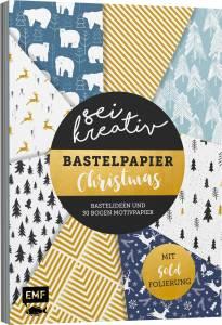 Sei kreativ! – Bastelpapier Christmas: Bastelideen und 30 Bogen Motivpapier – Mit Folienveredelung, www.emf-verlag.de