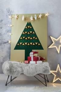 Goldbaum: Weihnachtsbasteln mit d-c-fix Klebefolie