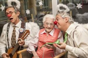 Oh du fröhliche ... auch im Pflegeheim wird gesungen und gelacht.